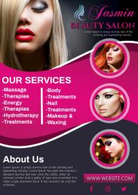 Beauty salon A4 template