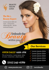 Beauty Salon Flyer A4 template