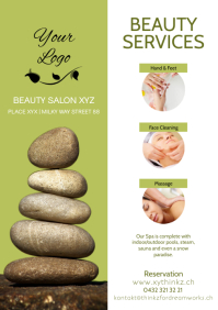 beauty salon Flyer Spa Flyer Din Stones Ad