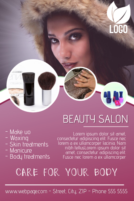 Customizable Design Templates For Beauty Salon Flyer Template