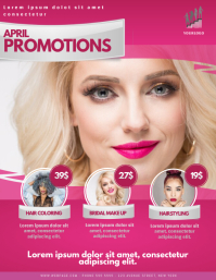 Beauty Salon Hair Dresser Promotion Offer Flyer Template