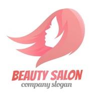 beauty salon hair female bussiness logo Логотип template