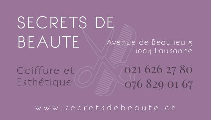 Beauty Salon Hair Spa Business Card