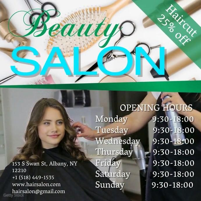 beauty salon Instagram Template