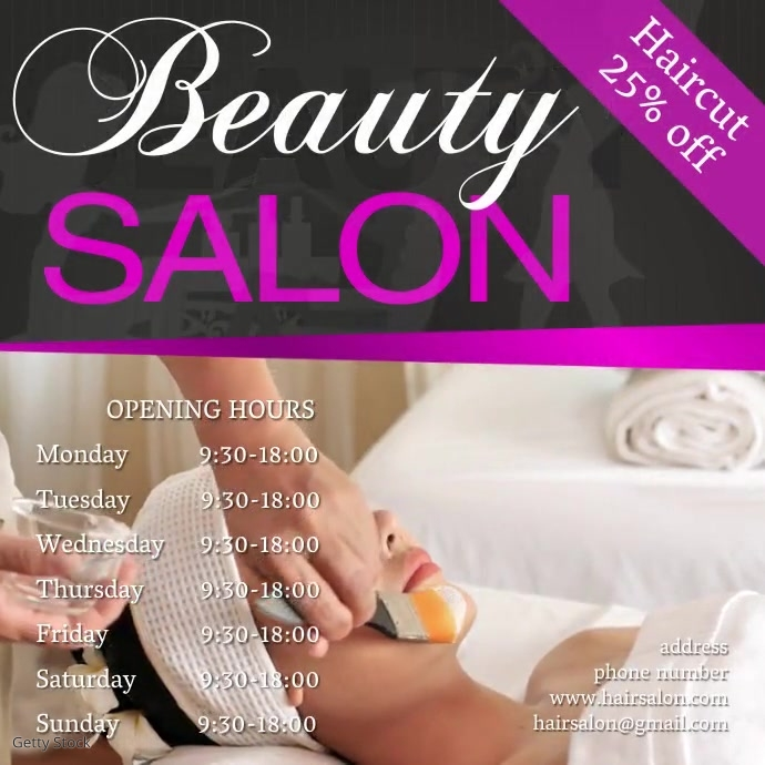 beauty salon Instagram Template