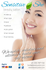 Beauty Salon Leaflet