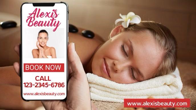 Beauty Salon Marketing Social Media Template Presentation (16:9)
