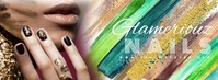 Beauty Salon Nail Art Social Media Banner Facebook-Cover template
