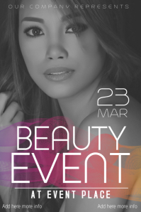beauty salon  or fashion flyer template