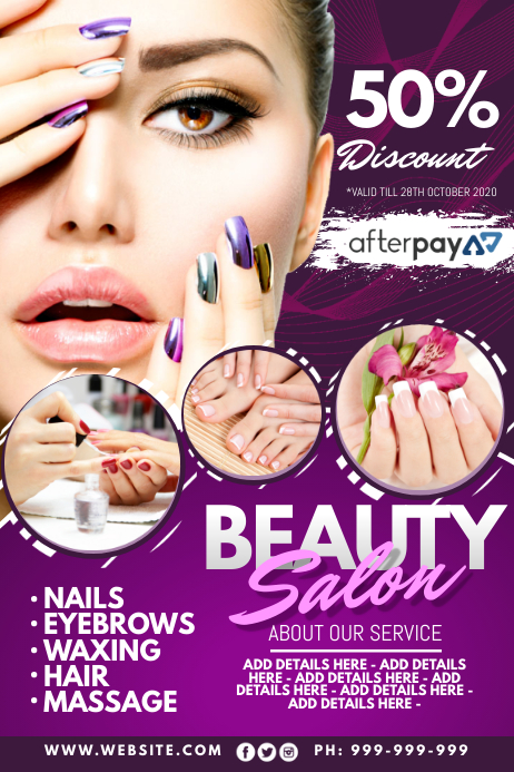 Beauty Salon Poster Plakat template