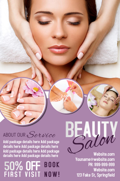 Beauty Salon Poster Plakat template