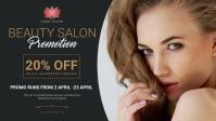 Beauty salon promotion design template Facebook Cover Video (16:9)