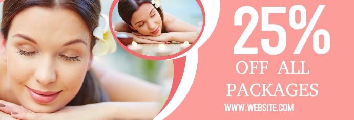 Beauty Salon Sale แบนเนอร์ LinkedIn template