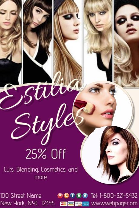 Beauty Salon sale Templatw