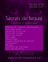 Beauty Salon Services Flyer and Contact Info