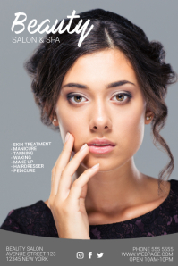 beauty salon skin treatment flyer template