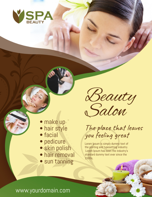 Beauty Salon Spa Flyer