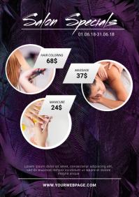 Beauty salon specials Flyer Template A4