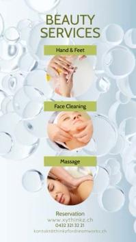 beauty salon story Spa Flyer Din Stones Ad Instagram-verhaal template