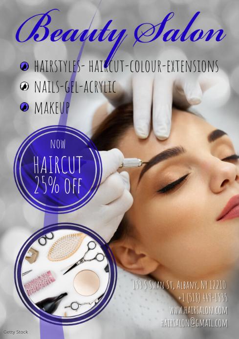 Beauty Salon Template A3