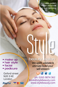 Beauty Salon Template Poster