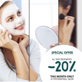 beauty salon video advertising offer template