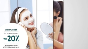 Beauty Salon Video Advertising Template for Facebook Cover
