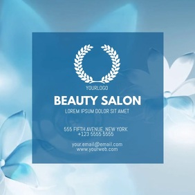 Beauty salon video businesscard template for instagram
