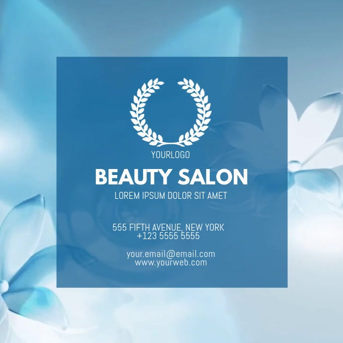 Beauty Salon Video Businesscard Template For Instagram