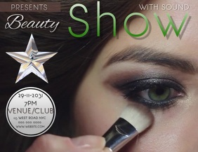 BEAUTY SHOW Flyer (US Letter) template