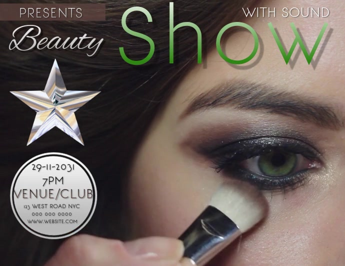 BEAUTY SHOW ใบปลิว (US Letter) template