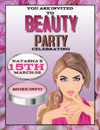 BEAUTY SHOW PARTY BARBIE PINK FLYER