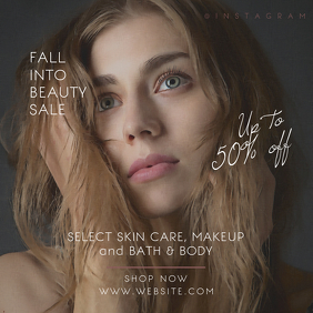 Beauty Skin Care Promotional Instagram Banner
