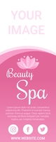 Beauty Spa Advertisement Campaigns 4-5 Roll U Spanduk Gulir Atas 2' × 5' template
