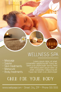 beauty spa and massage flyer template
