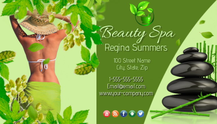 beauty spa business card - Spa Business Cards