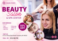 Beauty Spa Center Banner Ad Postcard template