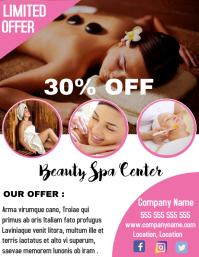Beauty spa center flyer 30%off