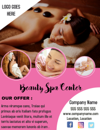Beauty spa center flyer
