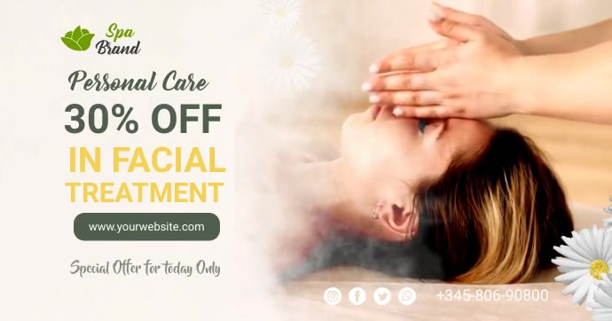 Beauty Spa Facebook Shared Image template