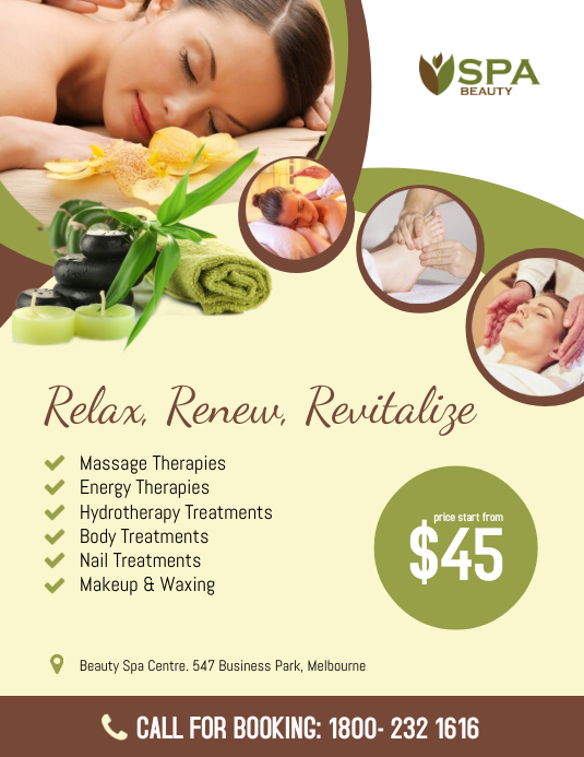 Beauty Spa Flyer Template Postermywall