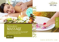Beauty Spa Massage Center Advertisement Открытка template