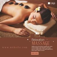 Beauty Spa Massage Center Advertisement Сообщение Instagram template