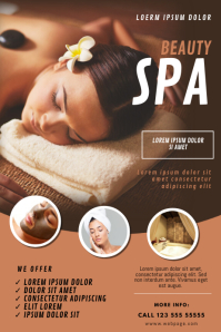 Beauty Spa Massage Flyer Template