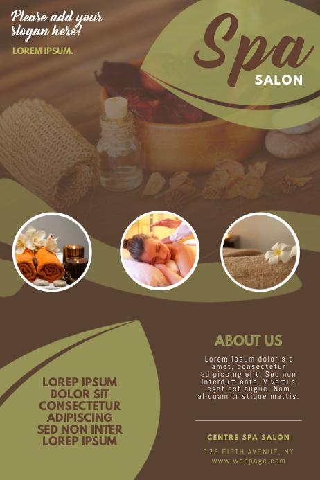 Beauty Spa Massage Salon Flyer Template