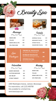 Beauty Spa Price Digital Display Template