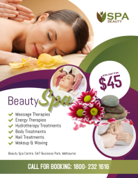 Beauty Spa Salon Flyer Poster Template