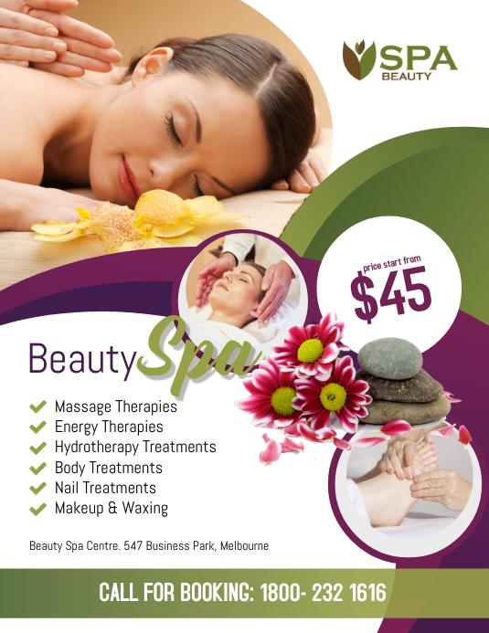Beauty Spa Salon Flyer Poster Template