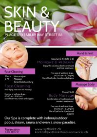 Beauty Spa Skin Wellness Treatment Health Ad A4 template