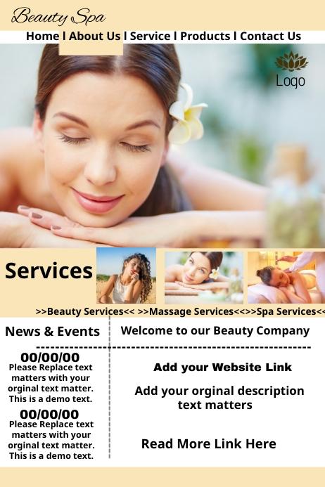 Beauty spa Website Template